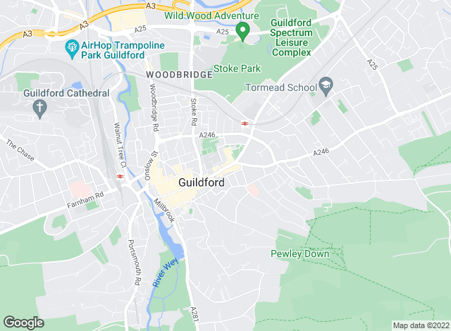 Map for Knight Frank, Guildford
