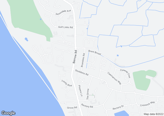 Map for Brambles Road, BURNHAM-ON-SEA