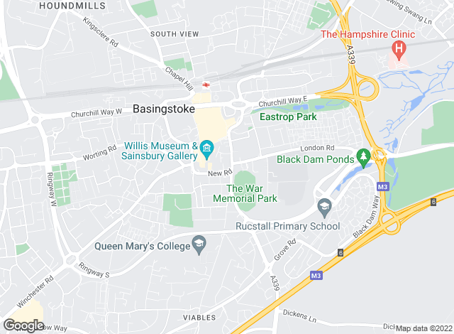 Map for Knight Frank, Basingstoke