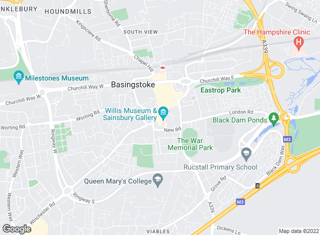 Map for The Property Explorer, Basingstoke