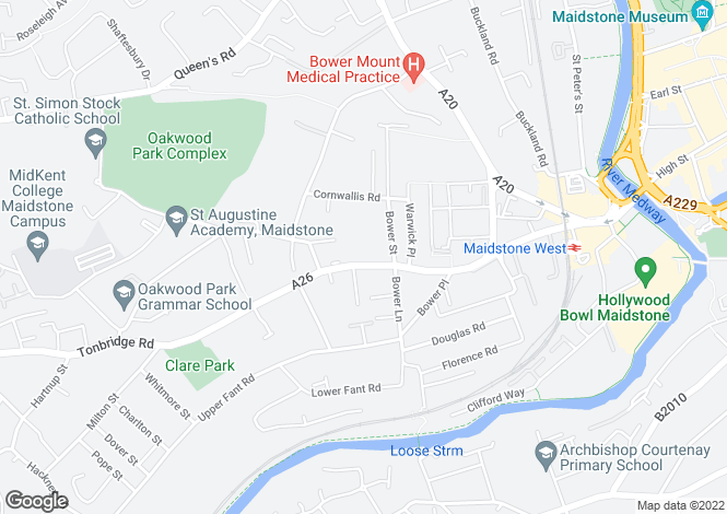 Map for Tonbridge Road, Maidstone ME16
