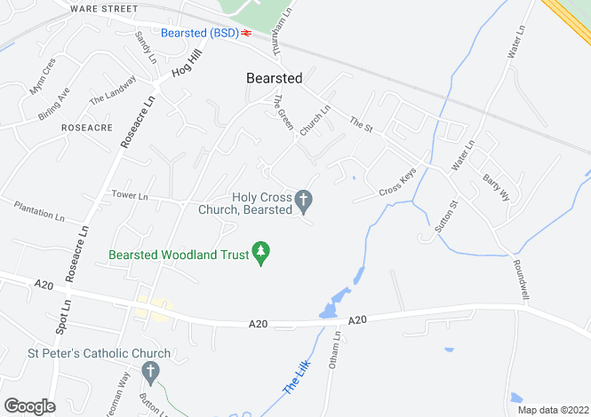 Map for Bearsted, Kent, ME14 4EE