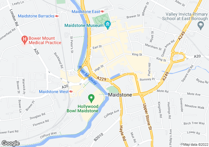 Map for Mill Street, Maidstone, ME15