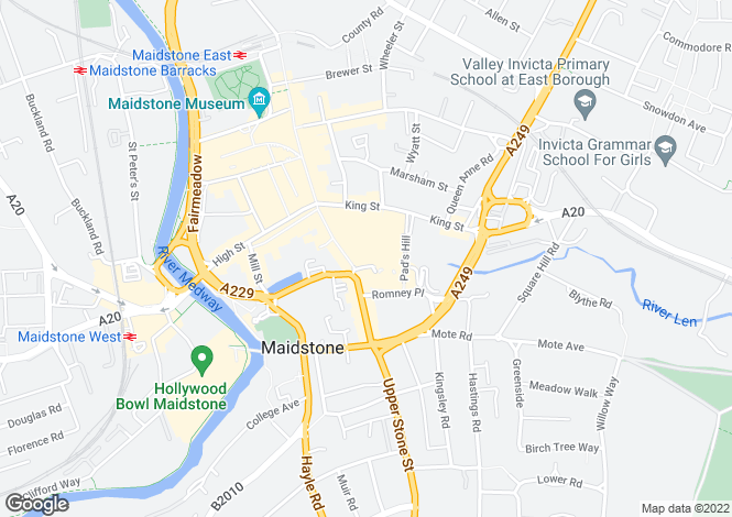 Map for The Chequers Centre, Maidstone, Kent, ME15 6AR