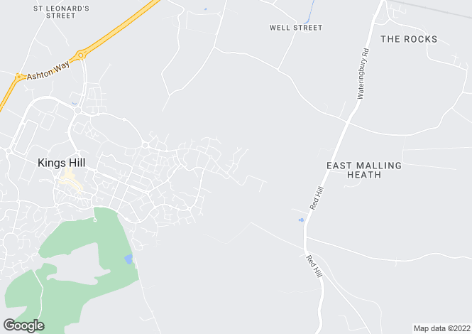 Map for Shoesmith Lane, Kings Hill, West Malling, Kent, ME19