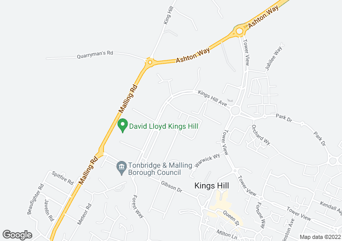 Map for 26 Kings Hill Avenue, Kings Hill, West Malling, ME19