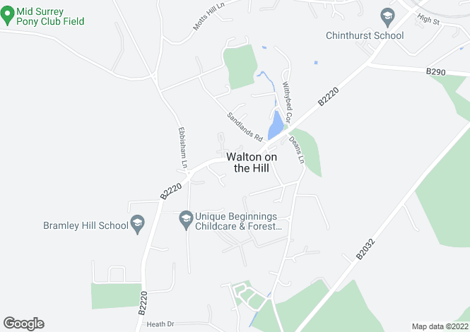 Map for Walton Street,