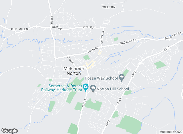 Map for Accredited Lettings, Midsomer Norton