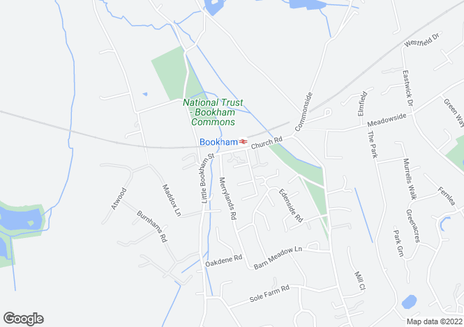 Map for Bookham