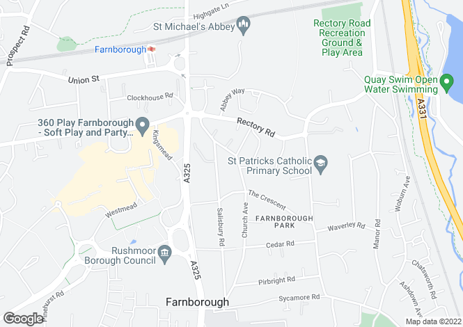 Map for Church Avenue, Farnborough, Hampshire