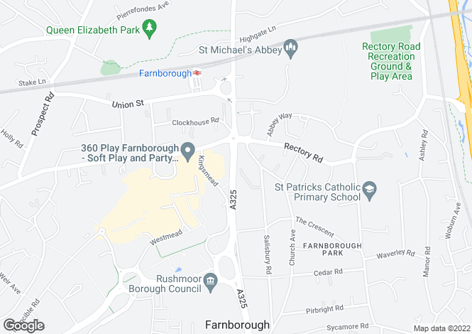 Map for Farnborough Road, Farnborough