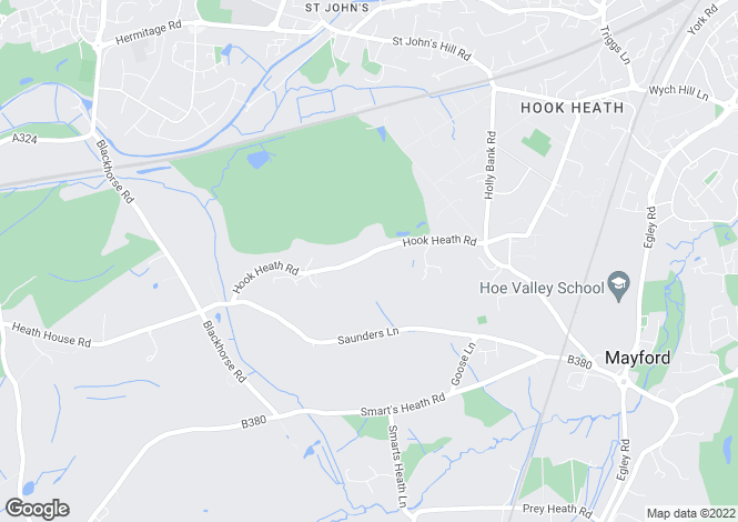 Map for Hook Heath Road, Hook Heath, GU22