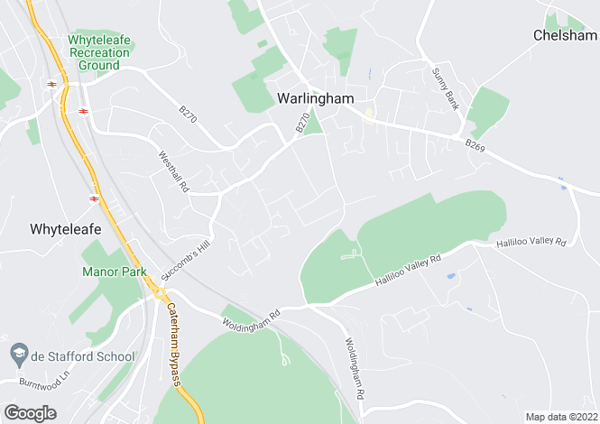 Map for Tydcombe Road, WARLINGHAM