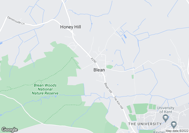 Map for Westfield, Blean