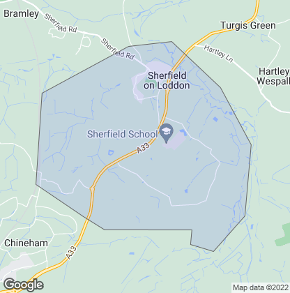Map of property in Sherfield-On-Loddon