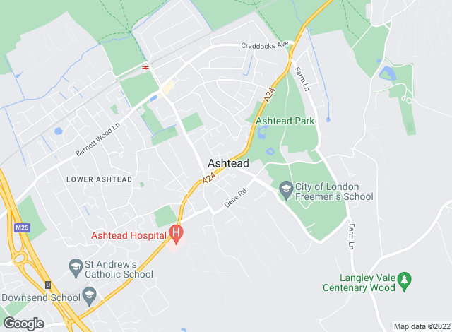Map for Jackie Quinn & Co, Ashtead Village