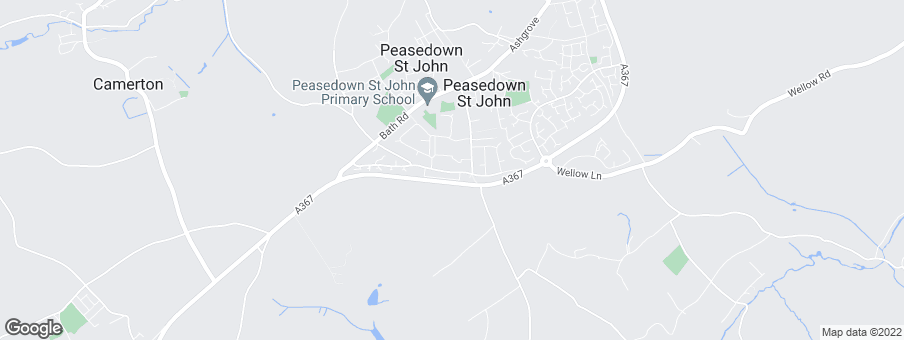 Map for Peasedown Meadows development by David Wilson Homes