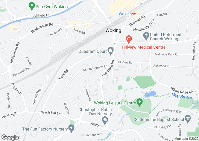 Map for Homebeech House Phase I, Mount Hermon Road, Woking, GU22 7XF