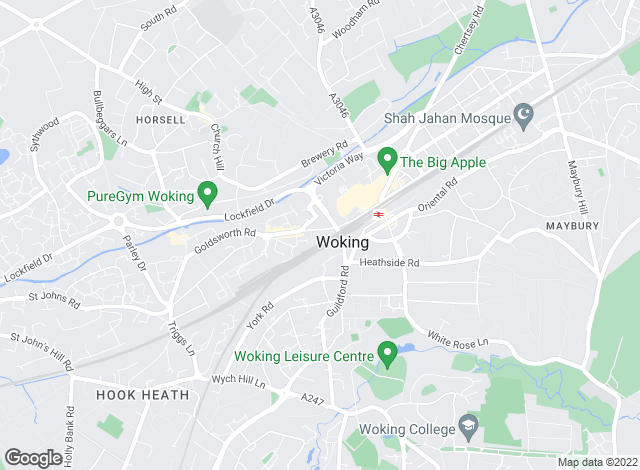 Map for Curchods Estate Agents, Woking