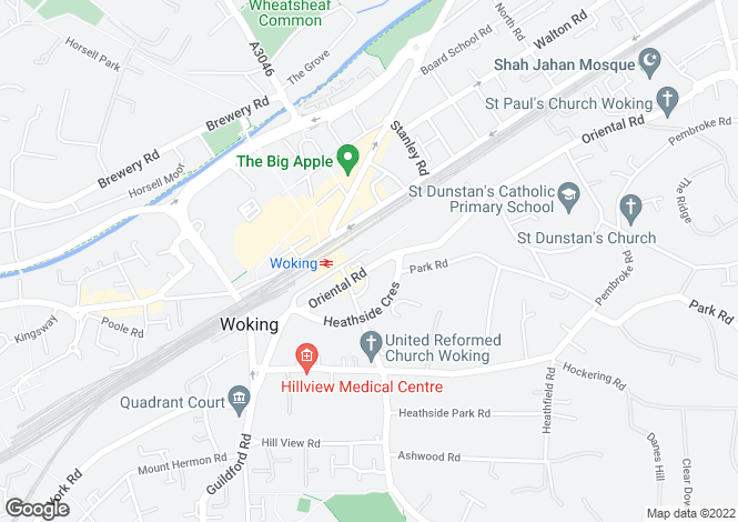 Map for WOKING
