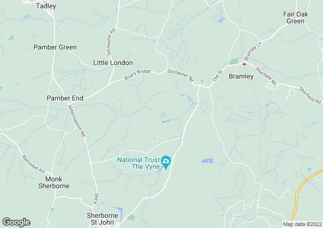 Map for Beaurepaire, Bramley, Hampshire, RG26