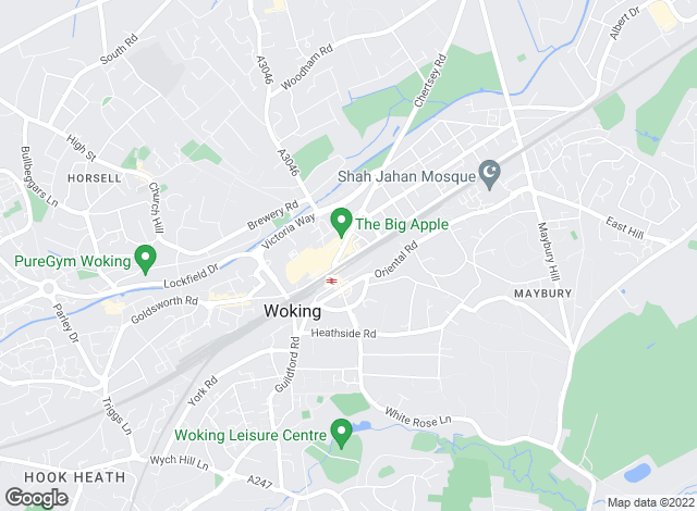 Map for Martin & Co, Woking - Lettings