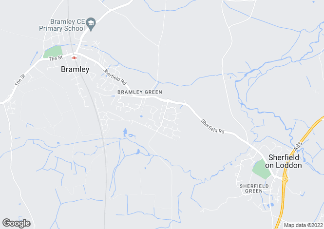 Map for Campbell Court, Bramley