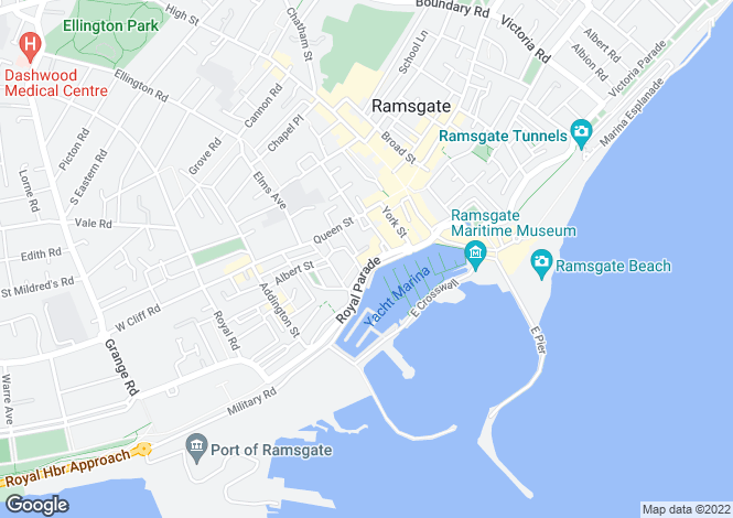 Map for Cliff Street, Ramsgate, Kent