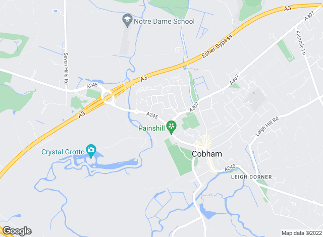 Map for APW Management (Cobham) Ltd, Cobham