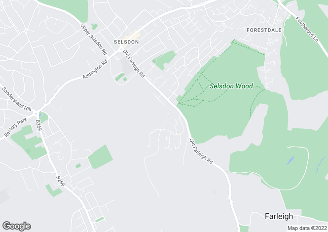 Map for Kingswood Way, South Croydon, Surrey