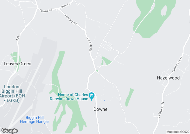 Map for Off High Street, Downe, Kent