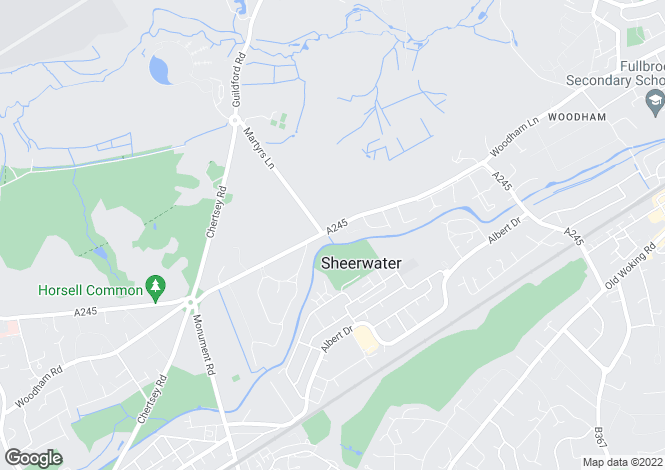 Map for Woodham Park, West Byfleet, GU21 5SR