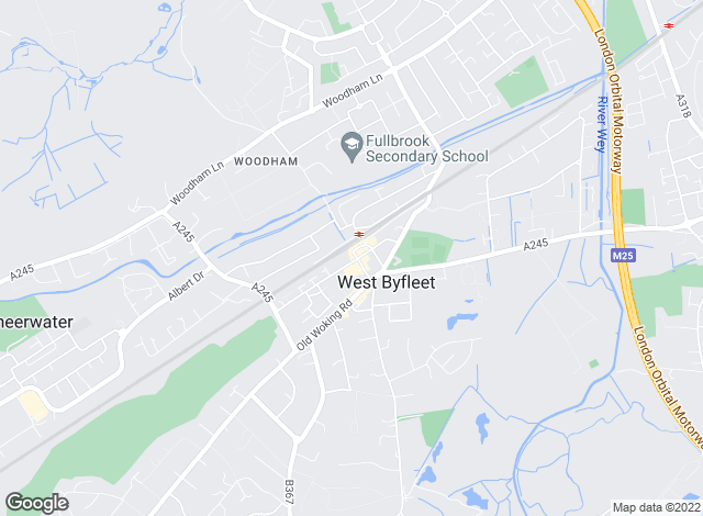 Map for Waterfalls Sales & Lettings, West Byfleet