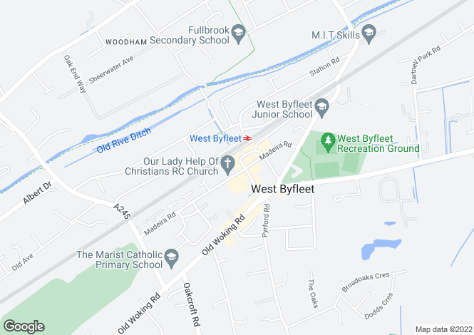 Map for 50 Station Approach, West Byfleet, Surrey