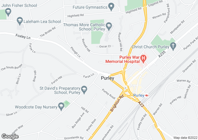 Map for Foxley Lane,