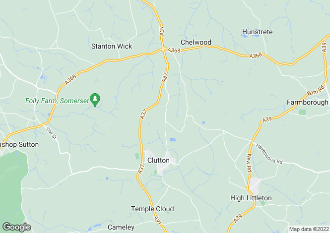 Map for Clutton, Near Bristol