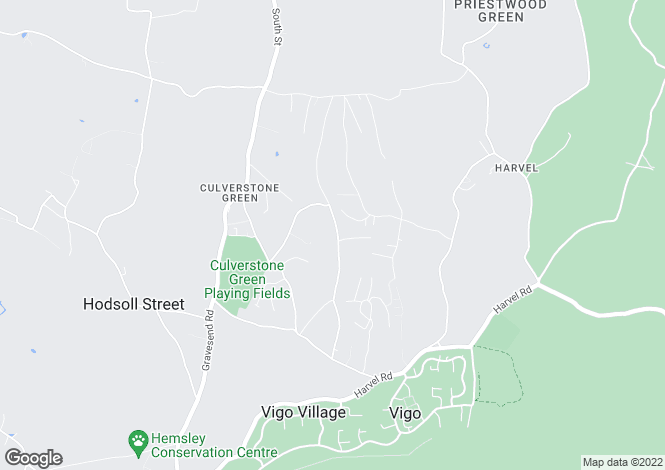 Map for Culverstone, Meopham, Kent
