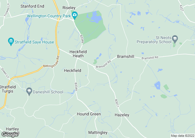 Map for Heckfield, HOOK, Hampshire