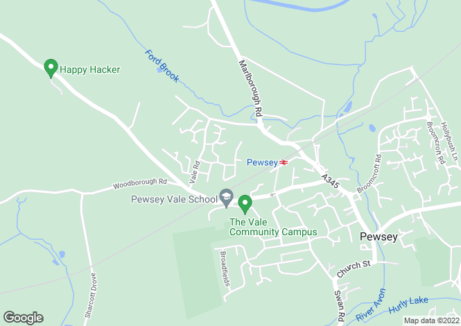 Map for Cossor Road, Pewsey, Wiltshire