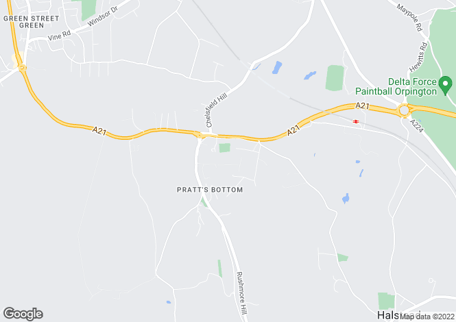Map for Orchard Road, Pratts Bottom, Kent, BR6 7NS