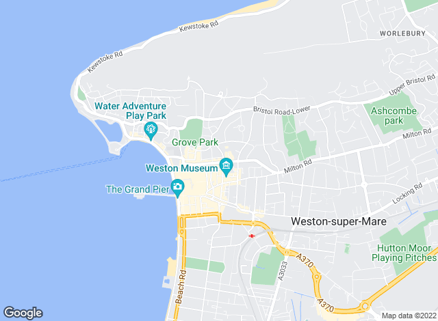 Map for Saxons Estate Agents, Weston Super Mare