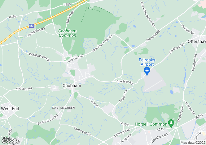 Map for The Willows, Chobham, Woking, Surrey GU24 8HG