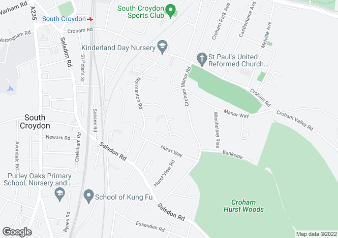 Map for Harewood Road, South Croydon, CR2