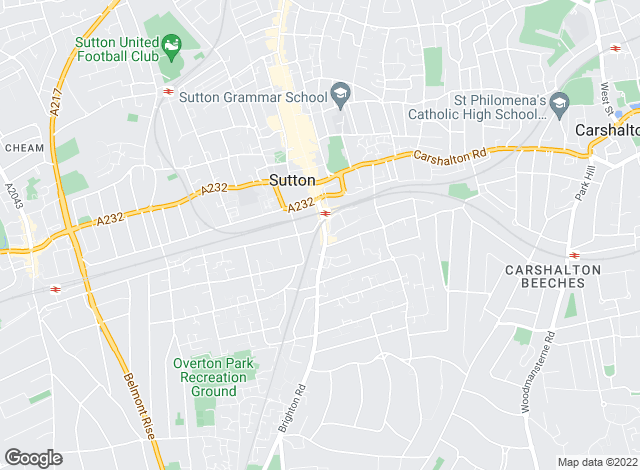 Map for YOUR MOVE, Sutton
