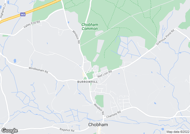 Map for Chobham, Surrey