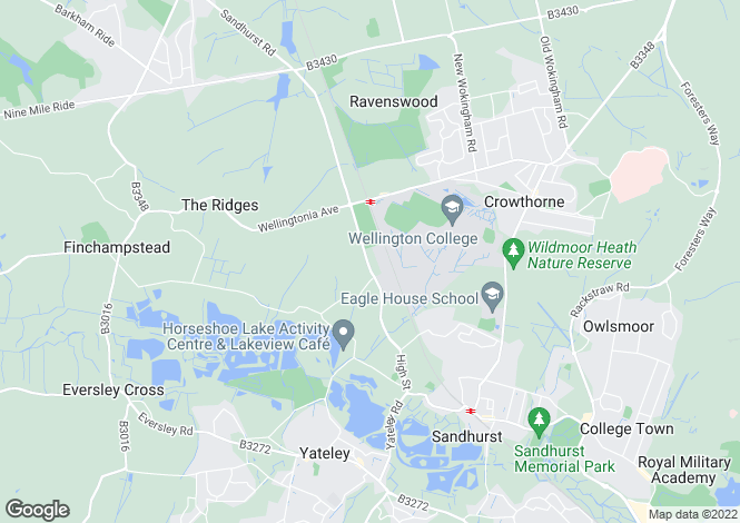 Map for Wokingham Road, Crowthorne, RG45