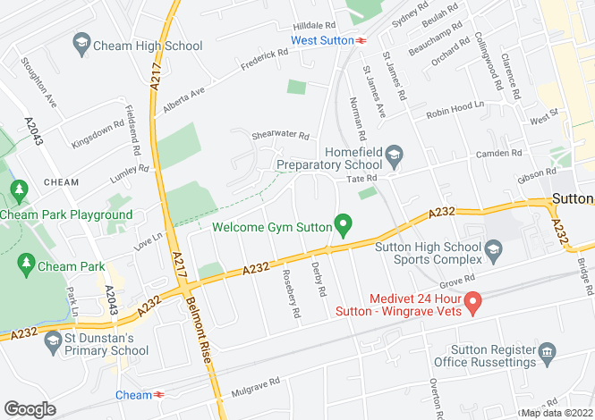 Map for Carlisle Road,