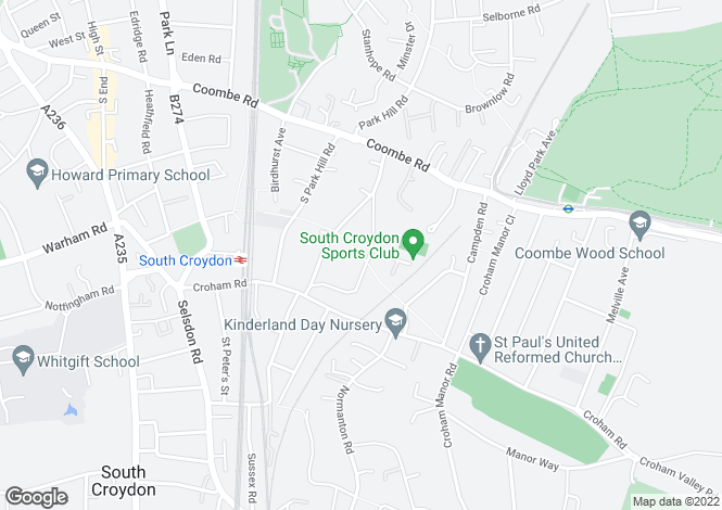 Map for Birdhurst Rise,