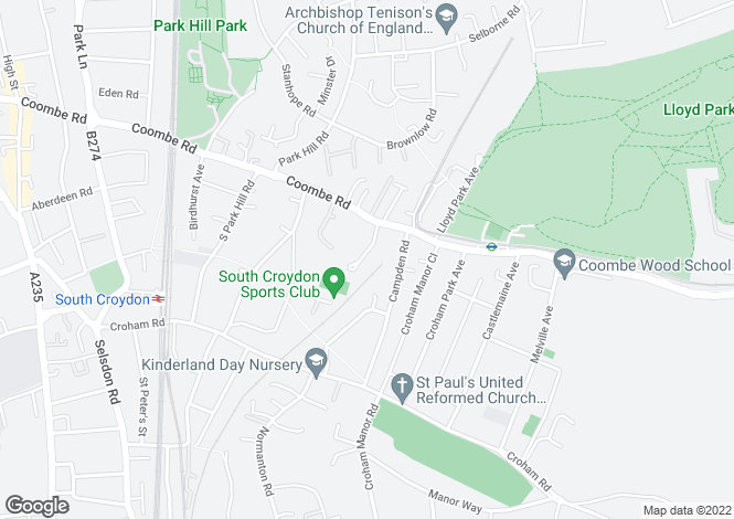 Map for Witherby Close, CROYDON, Surrey