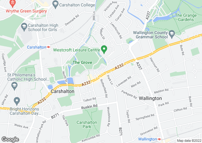 Map for Westcroft Court, 59  Westcroft Road, Carshalton